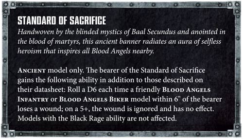 Blood Angels Standard of Sacrifice