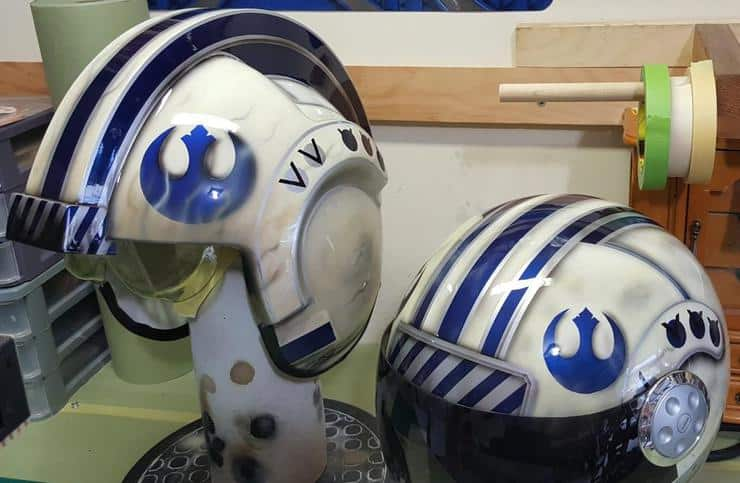 Airbrushed Star Wars Helmets