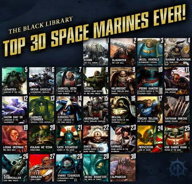 top 30 space marines