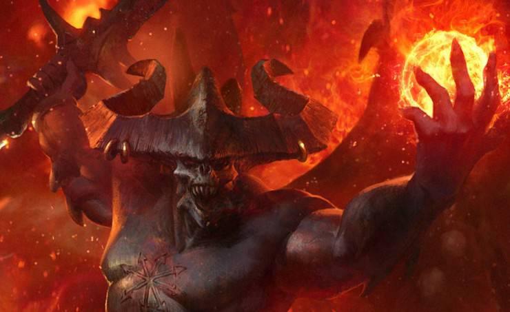 be'lakor chaos demon hor wall