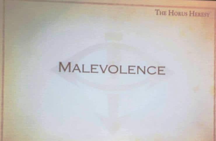 horus Heresy Malevolence