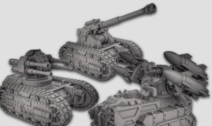 image regarding Printable Tanks named 3D Printable Sci-Fi Tanks Kickstarter Completely Funded - Spikey Bits