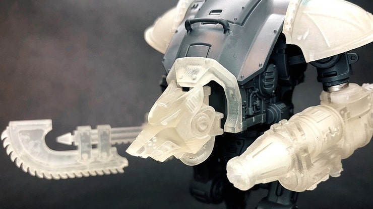3D Printed Imperial Knight Armiger Upgrade Set - Spikey Bits