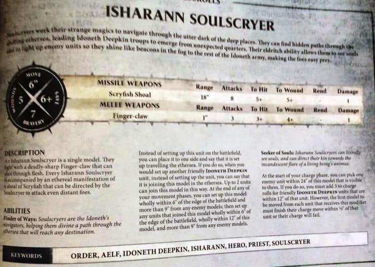 Idoneth Deepkin Isharann Soulscryer