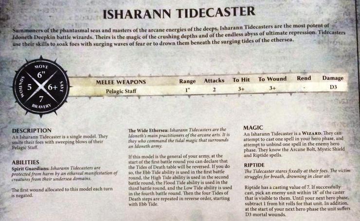 Idoneth Deepkin Isharann Tidecaster