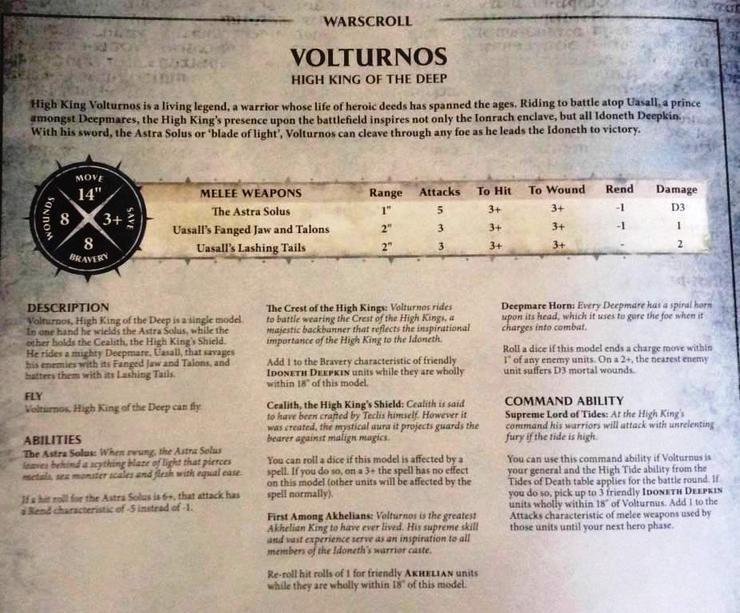 Idoneth Deepkin Volturnos