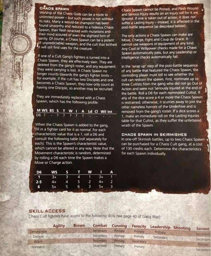 Necromunda Chaos Cult