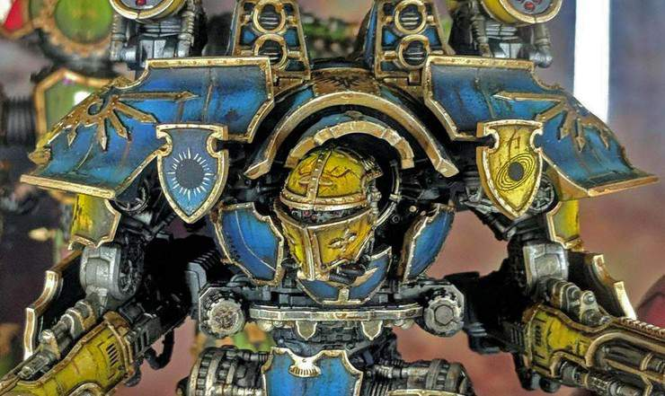 Adeptus Titanicus warlord painted