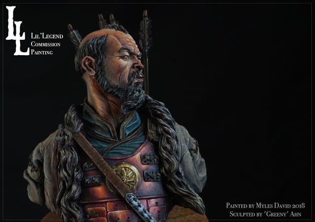 mongol bust