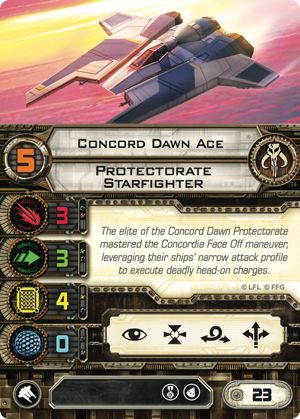 Concord Dawn Ace Protectorate Starfighter