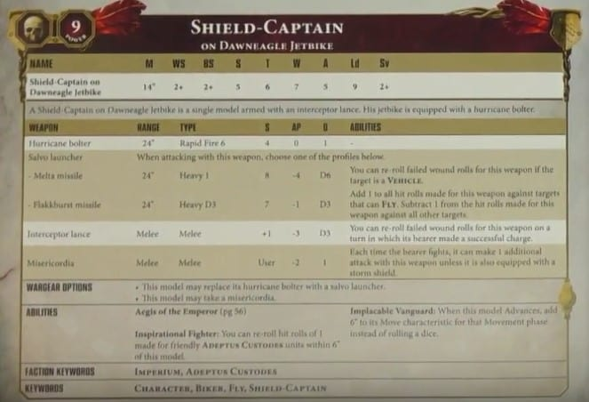 shield captain rules