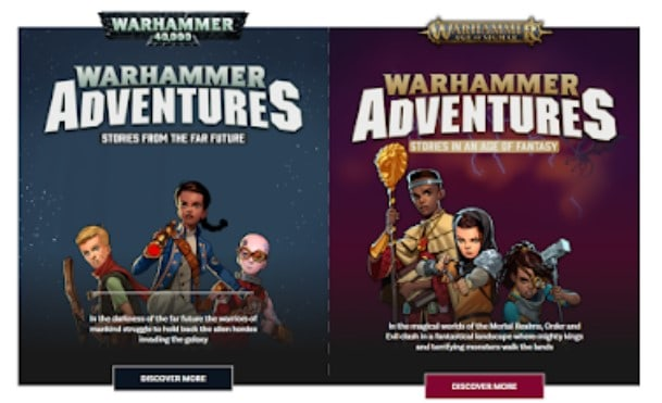 warhammer adventures side by side