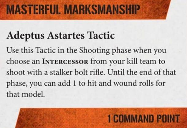KT masterful marksmenship