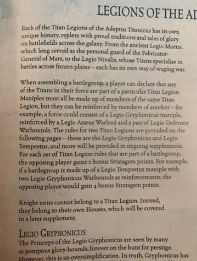Adeptus Titanicus Core Book Rules REVEALED - Spikey Bits
