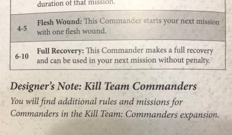 designer's commentary RUMORS: 40k Kill Team Commanders & Inquisitors