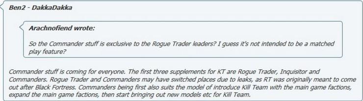RUMORS: 40k Kill Team Commanders & Inquisitors - Spikey Bits