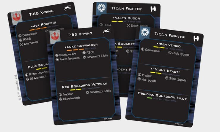 predefined cards