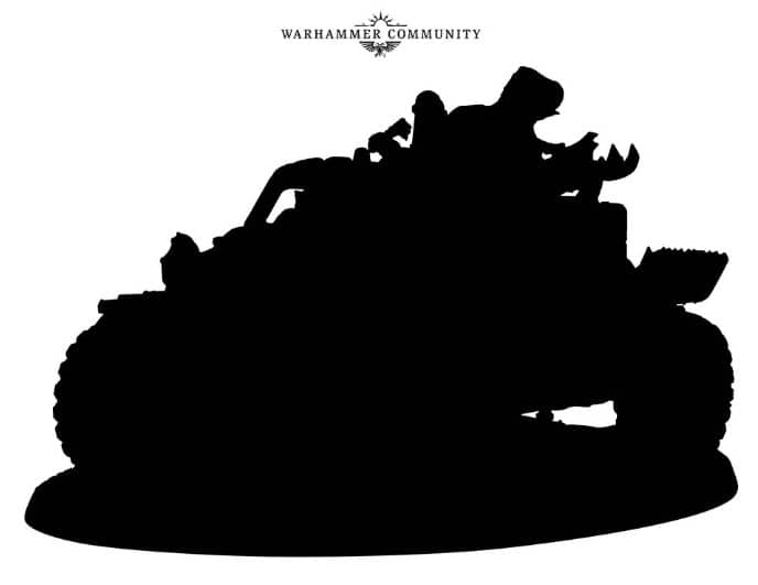 ork vehicle black What Is It? New 40k Ork Vehicle Spotted