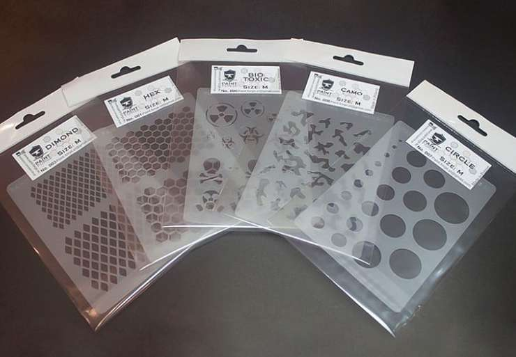 Tons of New Airbrush Stencils At The Hexy Store - Spikey Bits