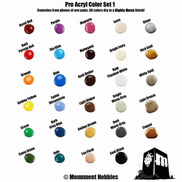 Monument Pro Acryl Paints Now at Creature Caster - Spikey Bits