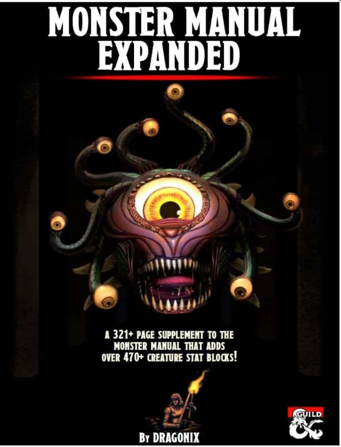 5E D&D Monster Manual Expanded From DMs Guild - Spikey Bits