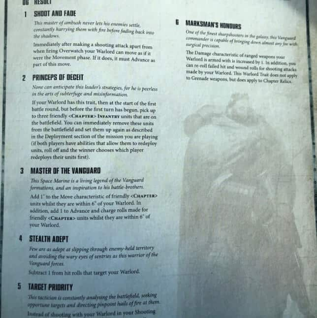New Primaris Shadowspear Rules & Restrictions SPOTTED