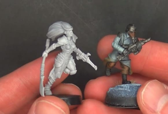 by W Artel 28mm wargaming and collectible miniatures Voidstalkers Squad 5 + Leader
