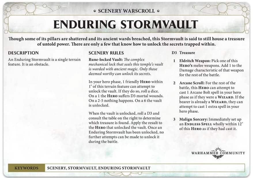 AoS Dominion Of Sigmar Terrain Warscroll Rules SPOTTED