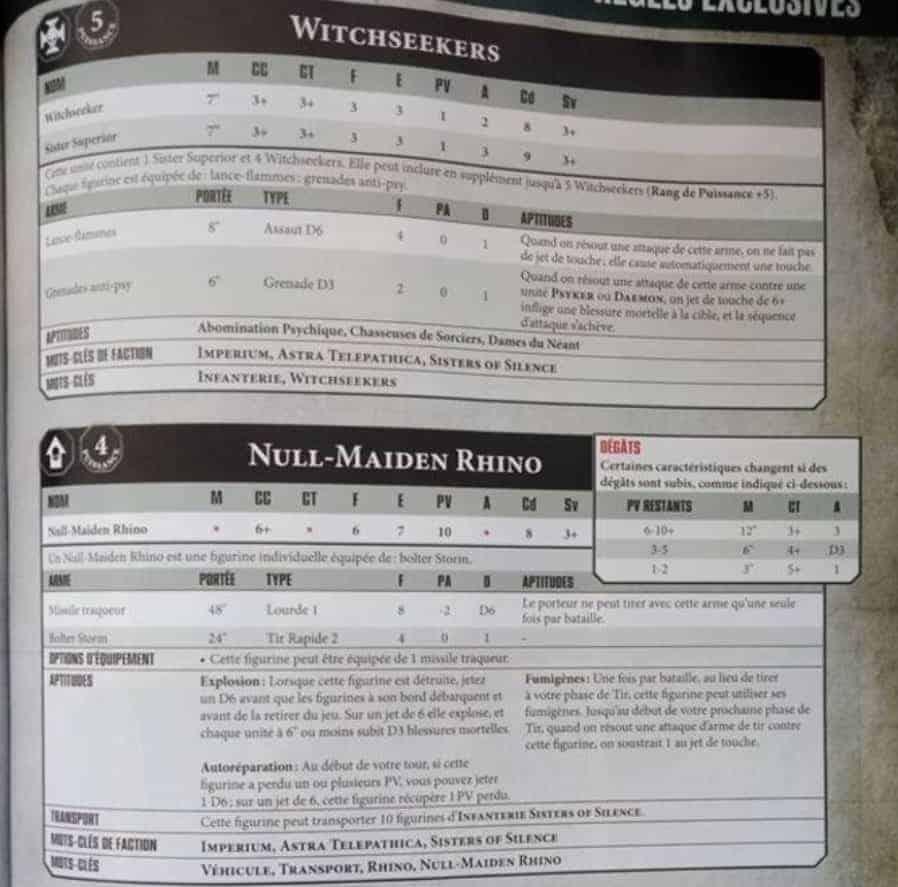 5 x Sisters of Silence new Warhammer 40K 30K Sororitas // Custodes // Talons