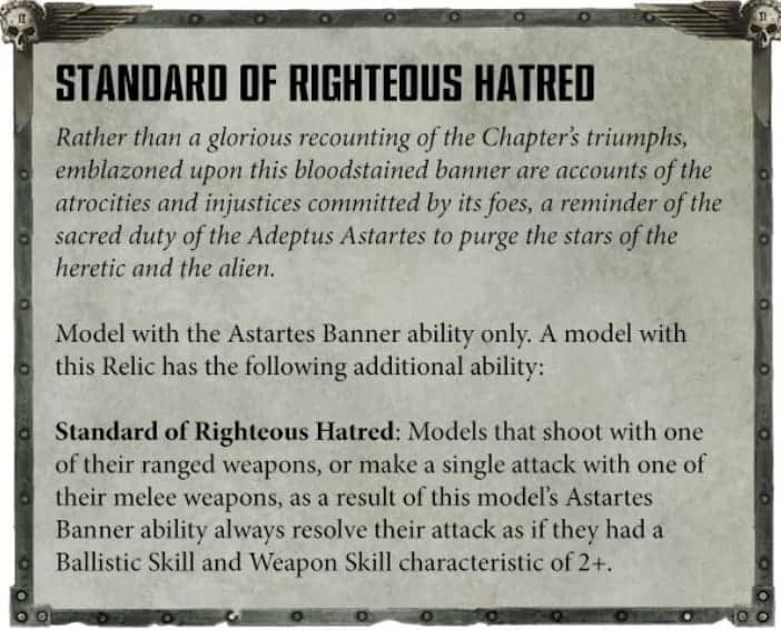 ancient standard of righteous hatred