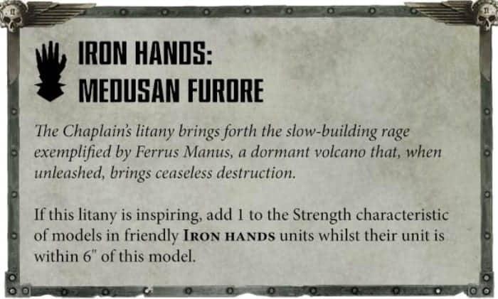 iron hands litany medusan furore